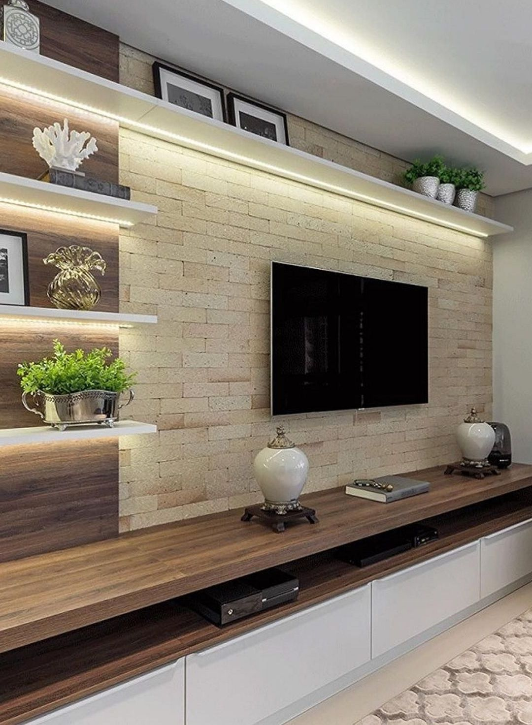 The Perfect Tv Wall Ideas That Will Not Sacrifice Your Look 05 Interiordub