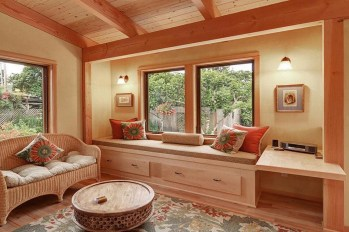 Wood House Interior And House Design With Floor Plan-01