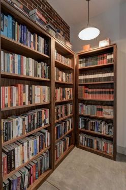 Woodwind H Bookcases ⊶ Via Roomandboard #BookStorage