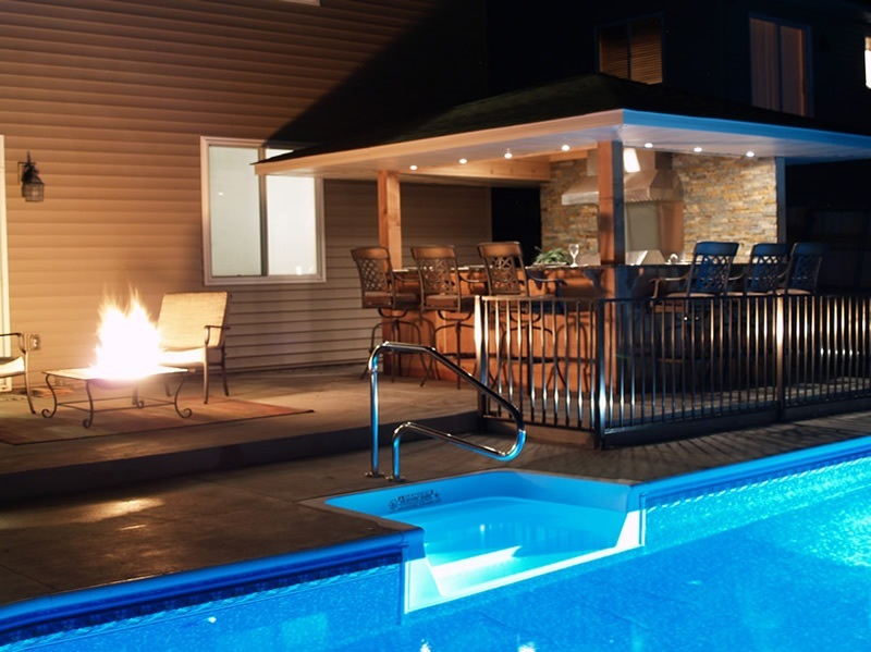 Outdoor pool and bar designs - bring out the beauty with ... on Backyard Pool Bar Designs id=16834
