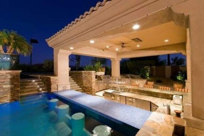 Outdoor pool and bar designs - bring out the beauty with ... on Backyard Pool Bar Designs  id=80882