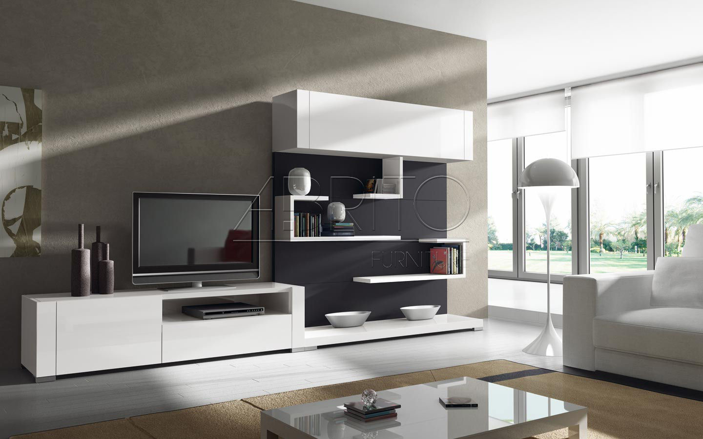 TOP 21 Living room lcd tv wall unit design ideas ... on Living Room Wall Units id=87799