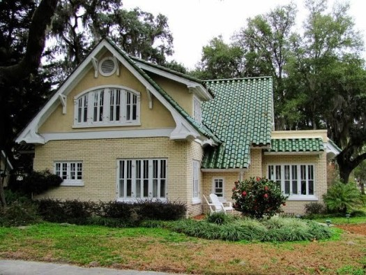 Exterior Paint Colors With Green Roof Photo 6