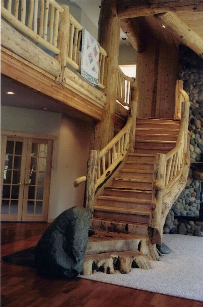 20 Elegant Rustic Staircase Designs To Inspire You Interior God