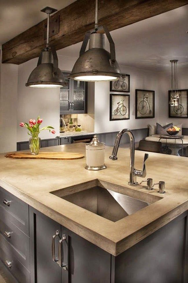23 Cozy And Chic Farmhouse Kitchen Design Ideas | Interior God on Farmhouse:-Xjylc6A2Ec= Rustic Kitchen  id=94156