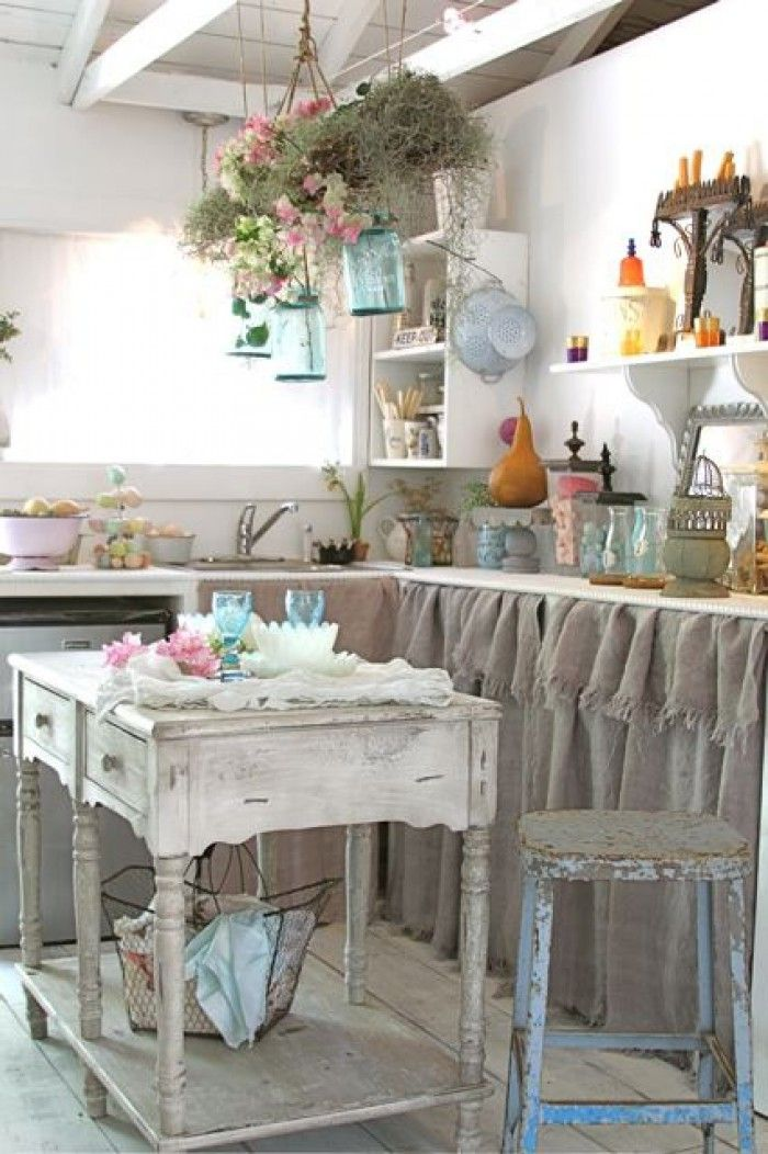25 Cute Shabby Chic Kitchen Design Ideas | Interior God on Farmhouse:4Leikoxevec= Rustic Kitchen Ideas  id=99584