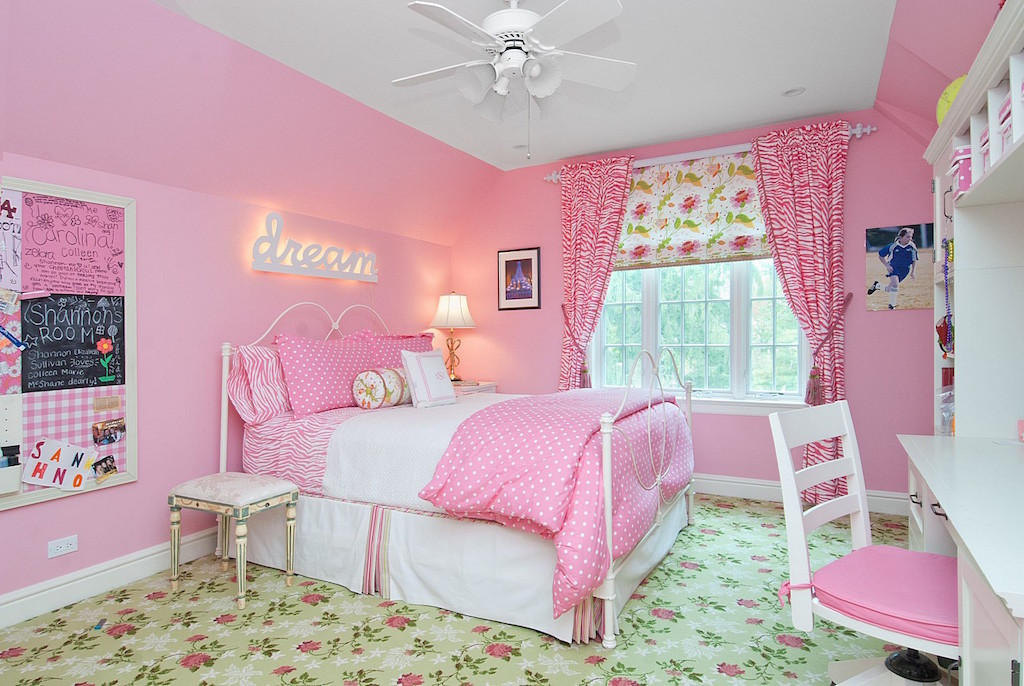 17 Ideas For Pink Girls Bedrooms | Interior God on Beautiful Room Design For Girl  id=93674