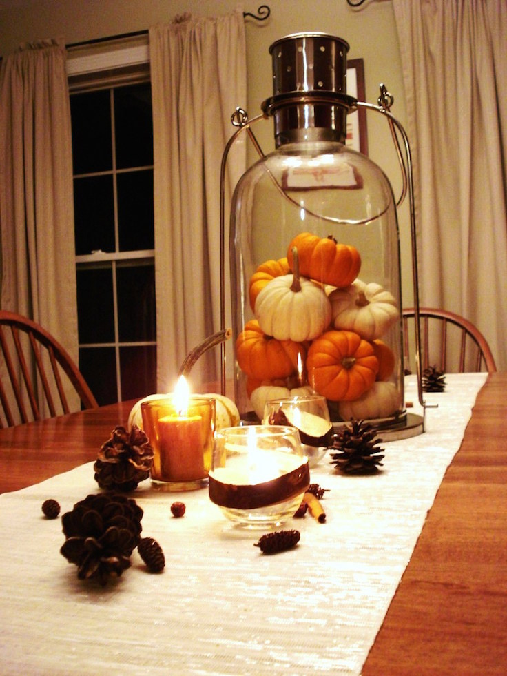 33 Pumpkin Centerpieces For Fall With Halloween Table Interior God