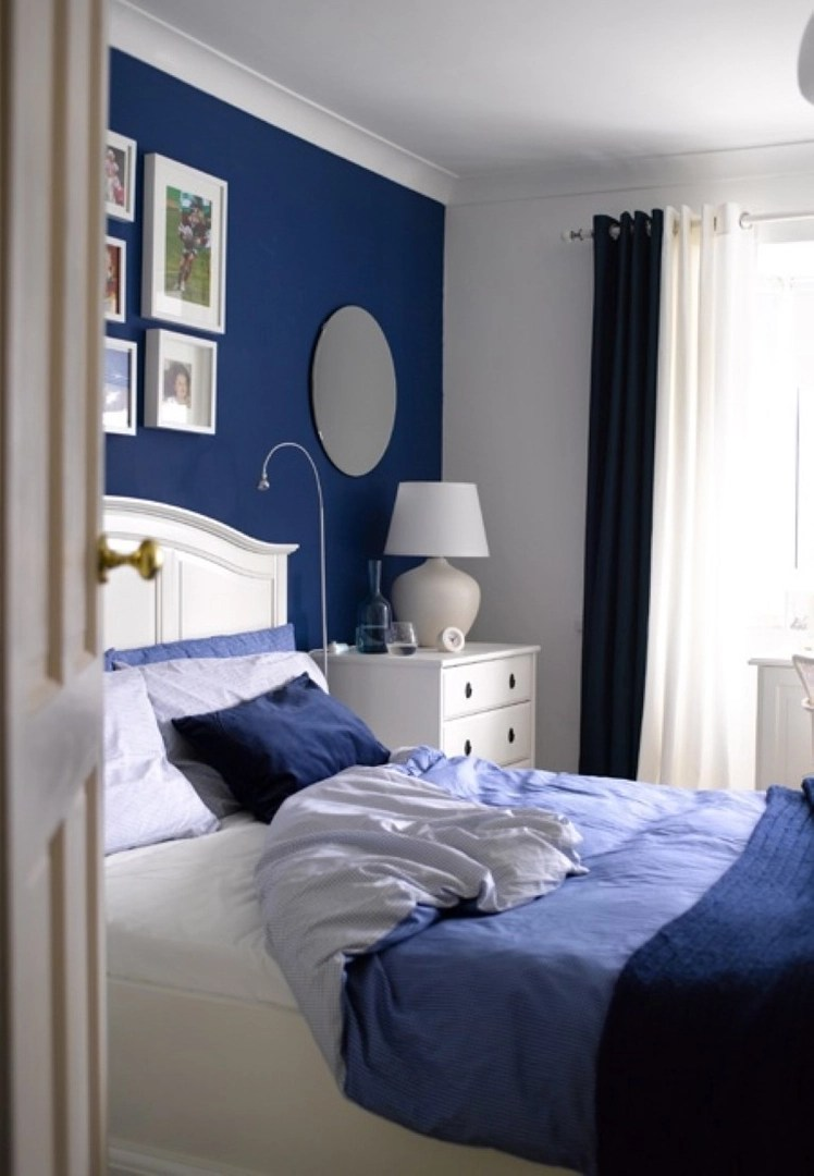 23 blue and turquoise accents bedroom designs on Dark Blue Bedroom Ideas id=39314