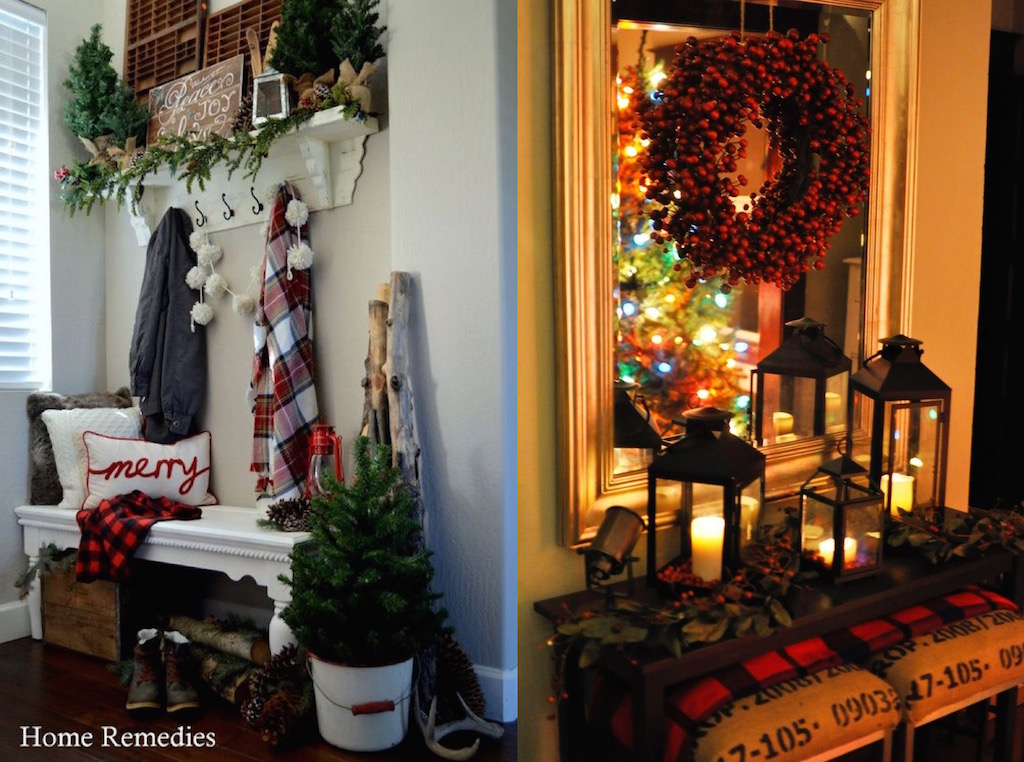 27 Christmas Entryway Decor Ideas That You Will Love