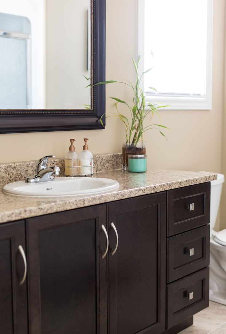 17 Inspiring Brown Bathroom Ideas You Will Love | Interior God on Bathroom Ideas With Black Granite Countertops  id=61360