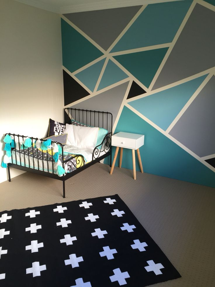 21 Geometric Bedroom Decor Ideas To Die For   Interior God on Teenage:rfnoincytf8= Room Designs  id=31897