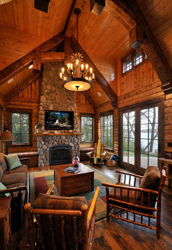 23 Living Room Designs With Vaulted Ceiling To Get ... on Pictures For Room Decor  id=93512