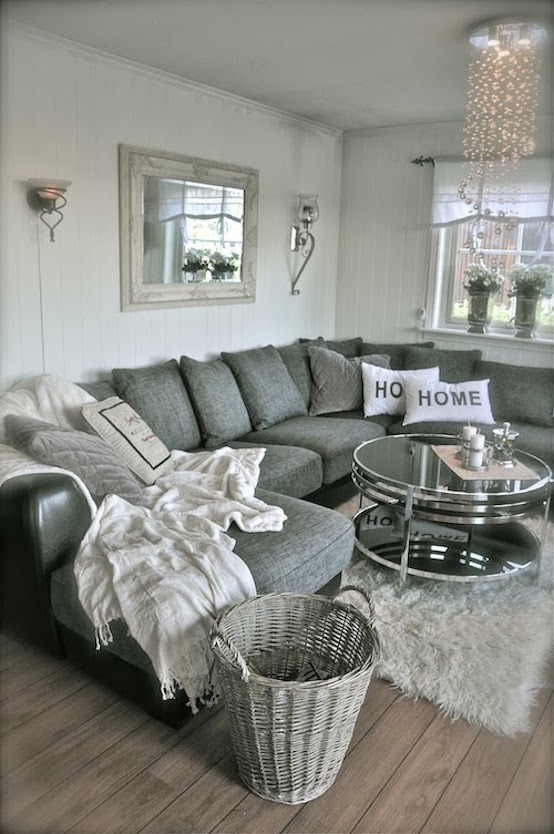 Small Sectional Sofa Grey