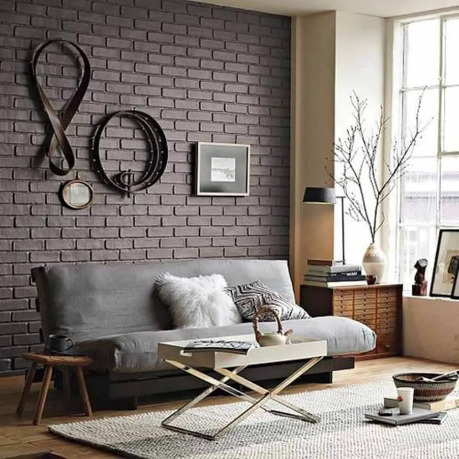 10 Brick Walls Living Room Interior Design Ideas - https ... on Brick Wall Decorating Ideas  id=32107