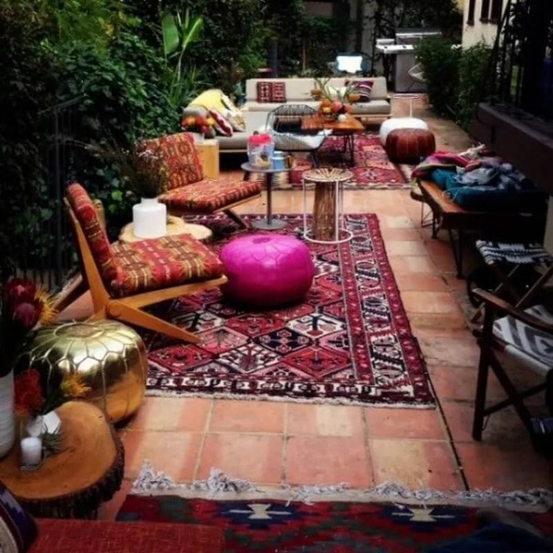 10 Charming Bohemian Patio Design Ideas - https ... on Moroccan Backyard Design  id=69128