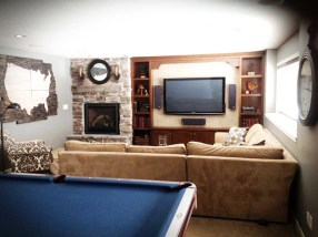 After: View from the Pool Table to the re-designed Entertainment space.