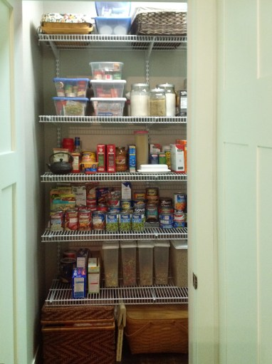 Pantry is organized