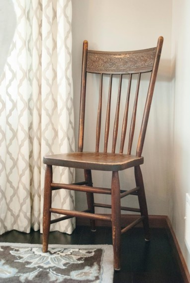 After: Antique Accent Chair