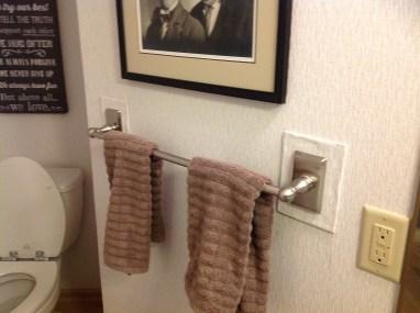 Before - Guest Bathroom Towel Rack