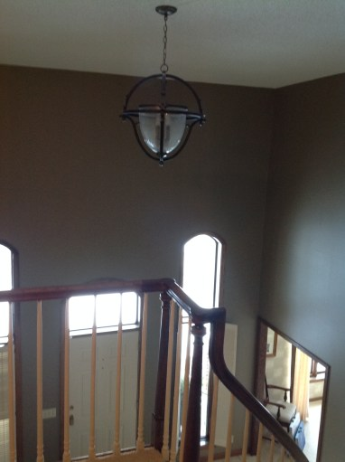 Before - Foyer Lighting