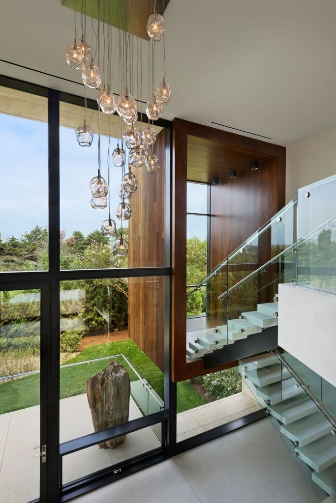 glass open staircase