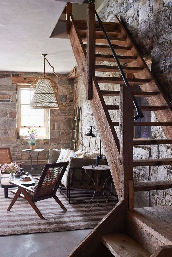 rustic farmhouse stairs
