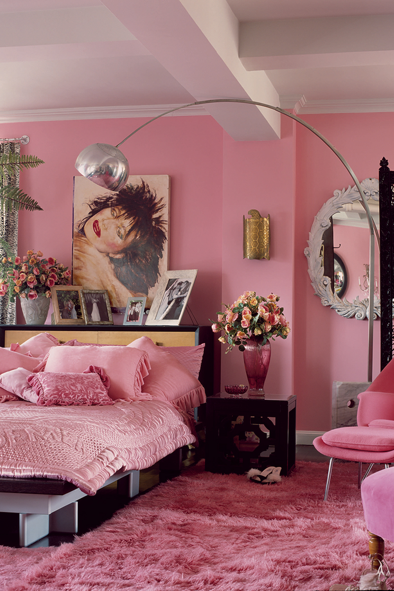 pink glam bedroom