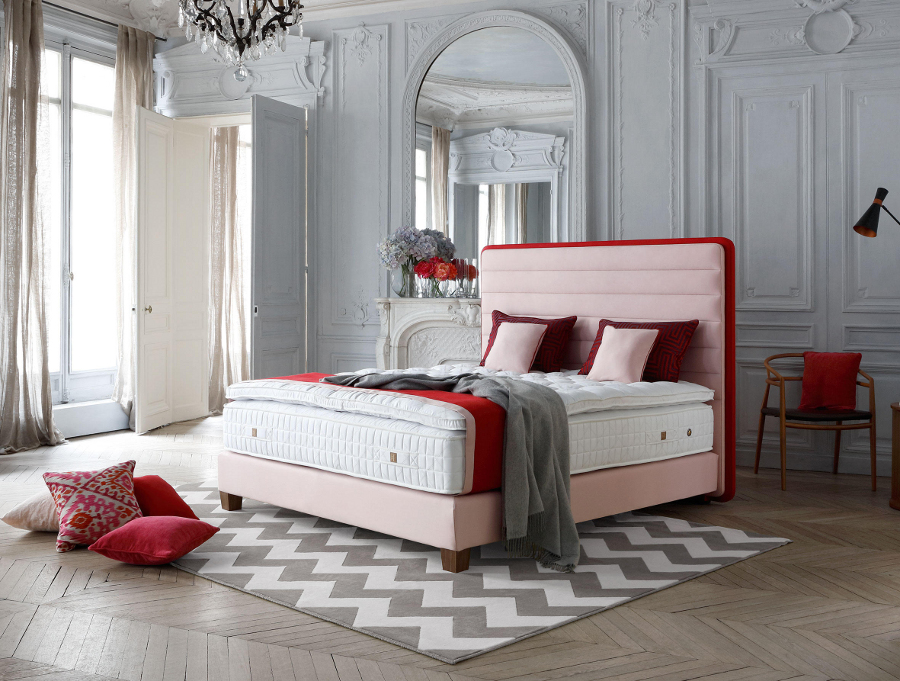 pink bed bedroom