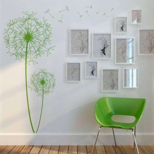 Декоративные стикерыцветы в интерьере Фото красивых