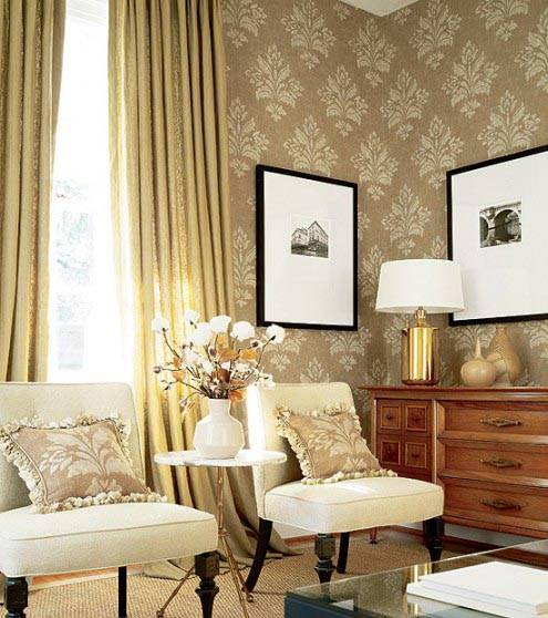 Классические обои для вашего дома Фото красивых интерьеров