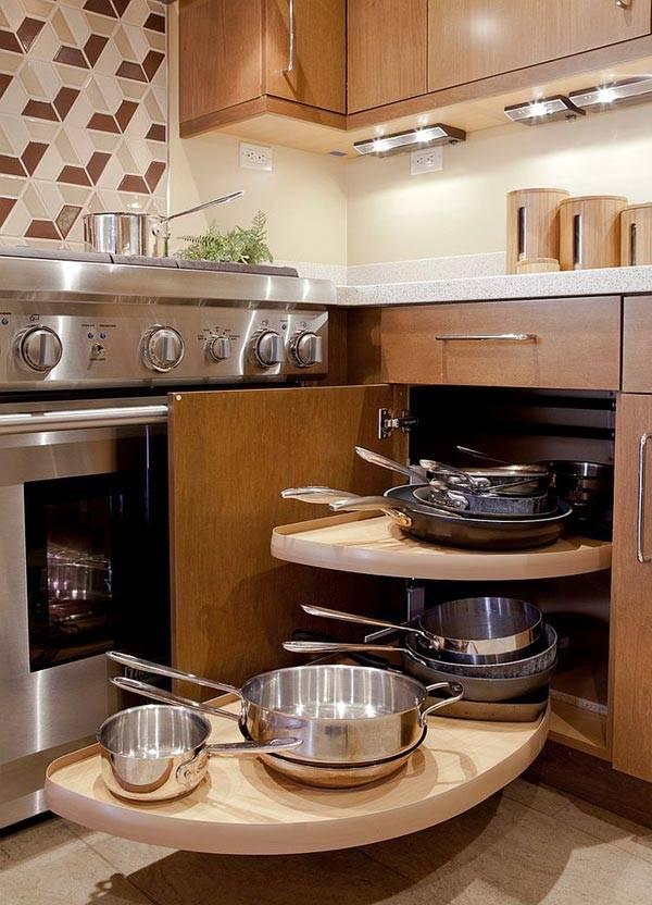 Угловые ящики на кухне - идеи хранения | Фото красивых ...
