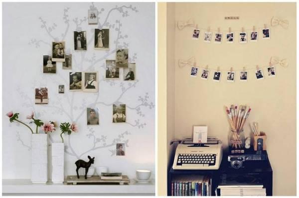 Как развесить фото в интерьере | Фото красивых интерьеров