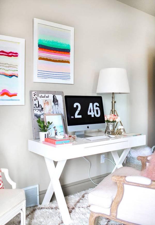 Интерьер домашнего офиса для блоггера | Фото красивых ...