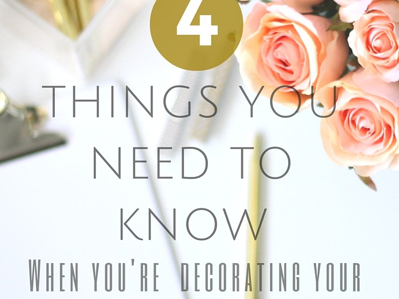 The top 4 things you need to know when you are decorating your living room.