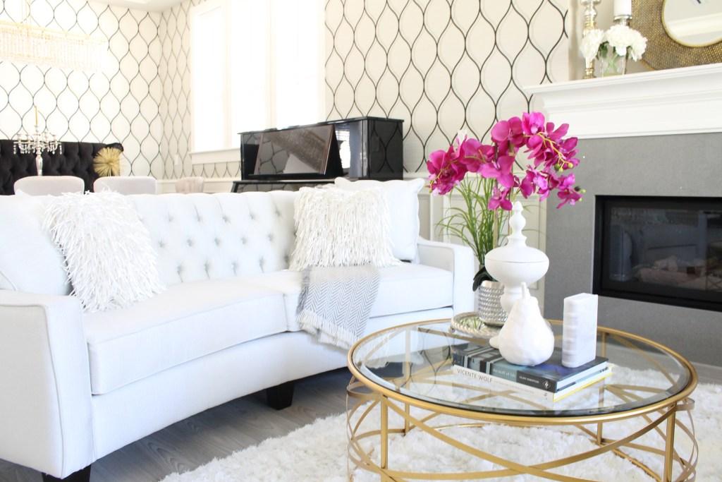 Glamorous Living Room glamorous living – formal living room reveal