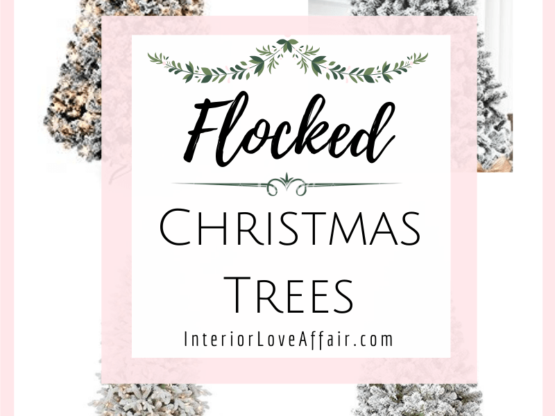 4 flocked christmas trees