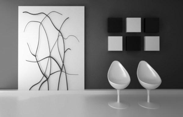 Чёрно-белые Картины Для Интерьера Фото