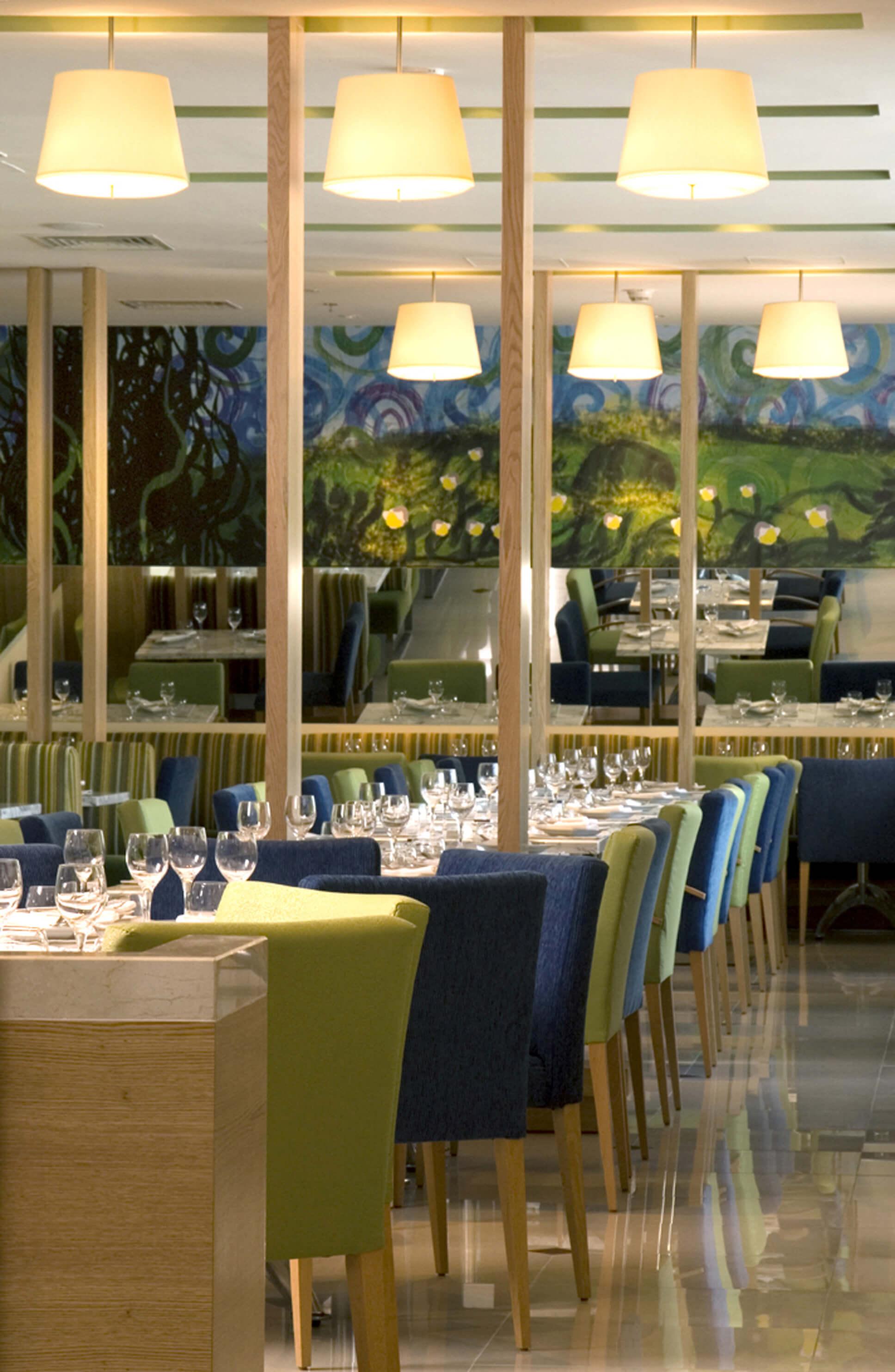 Boutique Hotel Bistro Dining Area InteriorSense Commercial Interior Design Bude Cornwall UK