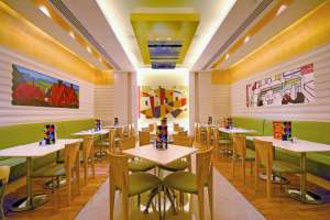 Interiors Cafe Art InertiorSense Commercial Design Project