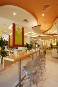 Gourmet Salad and Sandwich Cafe Interiors - InteriorSense