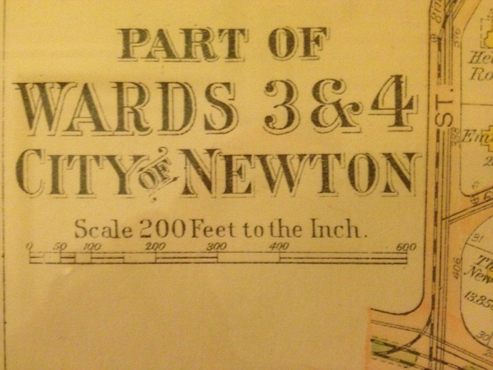 Close-up Map of Newton, MA - Label