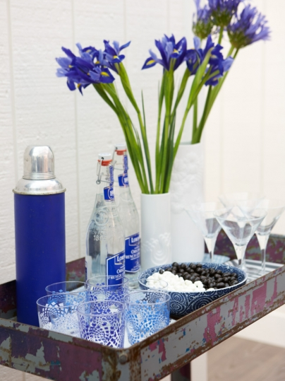 Blue Bar Tray