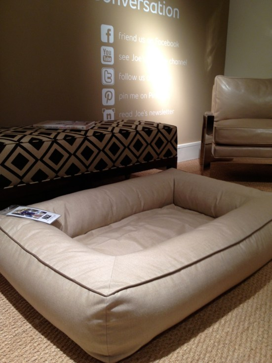 Joe Ruggiero for Miles Talbott - dog bed at #hpmkt