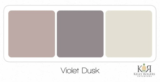 Violet Dusk soothing bedroom color scheme | Kelly Rogers Interiors