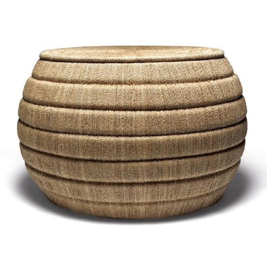 Made Goods Edurne Coffee Table Ottoman - 10 High-Style Storage Ottomans   Interiors For Families