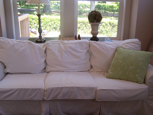 PB Basic Slipcovered Sofa - via The Inspired Room