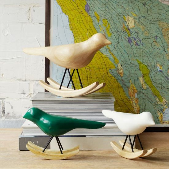 #2: Rocking Birds (West Elm) | 10 Great Accessories for Floor and Tabletop | Interiors For Families
