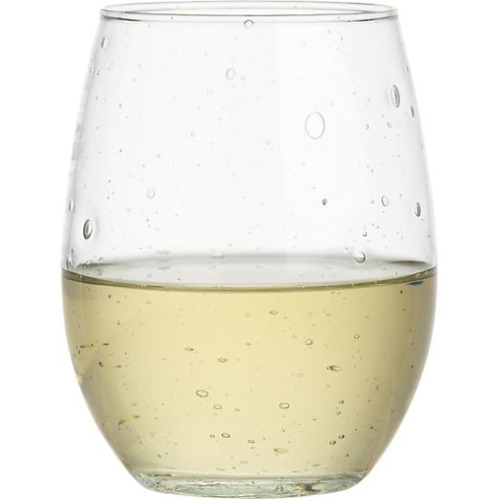 Crate & Barrel Flock Stemless Wine Glass | via Interiors For Families