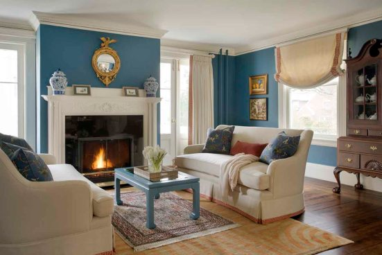 Formal and Family-Friendly Living Room   Kelly Rogers Interiors   via Interiors For Families